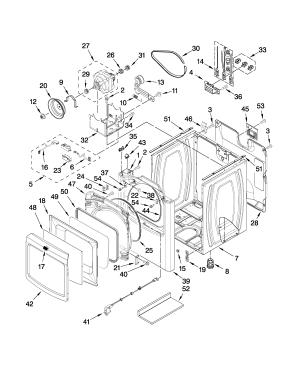 CABINET PARTS Diagram & Parts List for Model medb850wq0