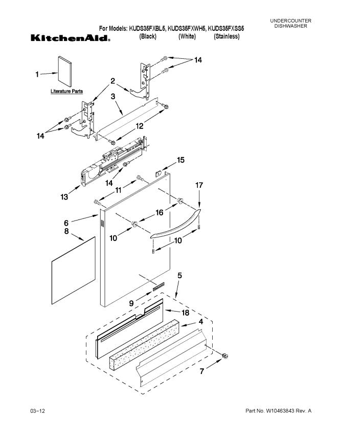 kitchenaid dishwasher diagram - kitchen design,