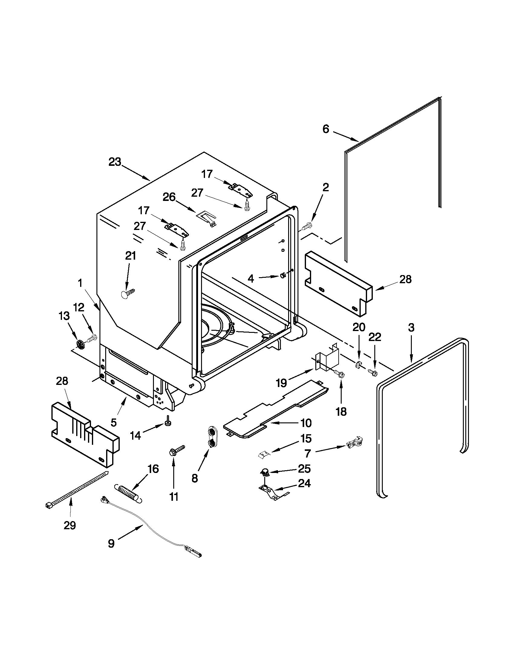 Jenn air undercounter dishwasher parts model jdb3650awr4 sears
