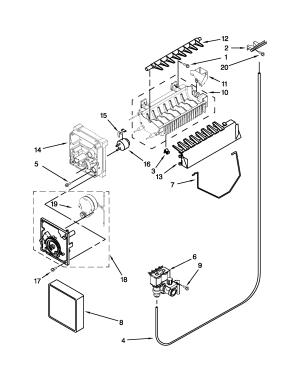 ICEMAKER PARTS Diagram & Parts List for Model asd2575brs01