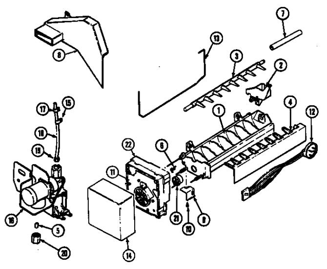 maytag ns207na refrigerator parts  sears partsdirect