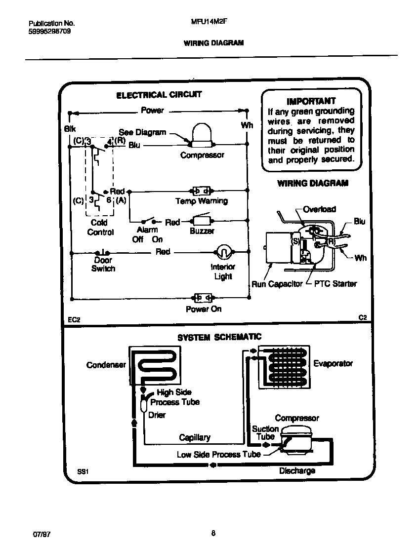 Wiring Diagram For Frigidaire Condenser Trusted Diagrams Ge Dryer Timer Map Gleq2152eso Refrigerator