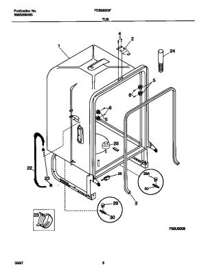 FRIGIDAIRE Dishwasher Wiring diagram Parts | Model