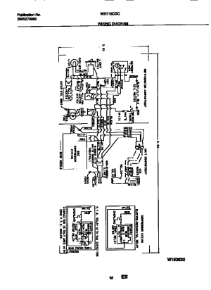 WHITEWESTINGHOUSE Refrigerator Wiring diagram Parts