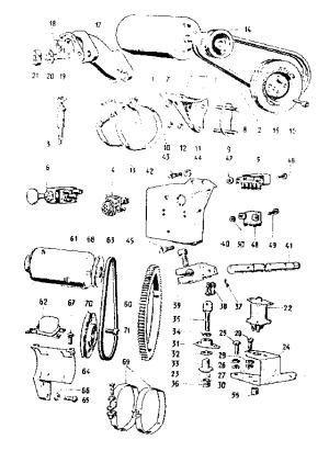 Sears model 550E785 engine genuine parts