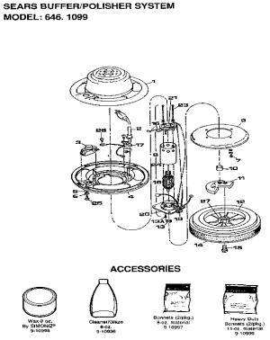 Craftsman model 6461099 bufferpolisher genuine parts