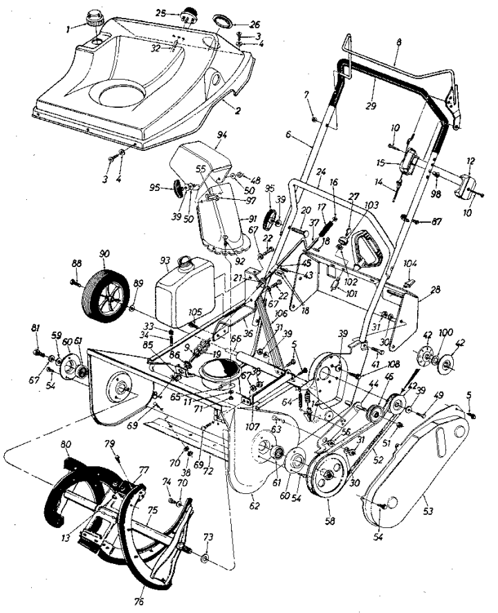 Model 247884411 | CRAFTSMAN SNOW THROWER Parts