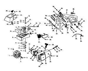 Craftsman model 358352380 chainsaw, gas genuine parts