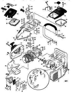 Mcculloch model PRO MAC 700 MODEL 60011604 chainsaw genuine parts