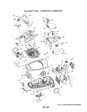 KENMORE VACUUM CLEANER Parts | Model 11628015700 | Sears