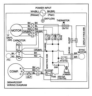 Goldstar model KG8000R air conditioner room genuine parts