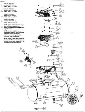 KobaltColeman model 215902 air pressor genuine parts