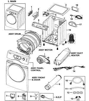 SAMSUNG DRYER Parts | Model DV338AEBXAA0000 | Sears