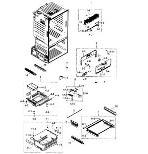 SAMSUNG REFRIGERATOR Parts | Model RF323TEDBSRAA0001
