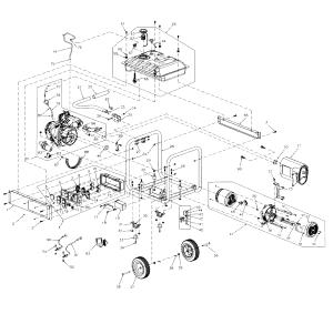 Generac model GP7500E59435 generator genuine parts