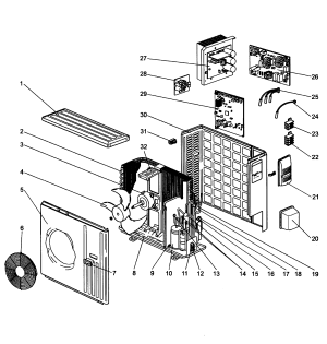 MITSUBISHI SPLIT SYSTEM AC  HEAT PUMP Parts   Model