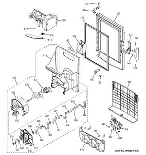 GE BOTTOM MOUNT REFRIGERATOR Parts | Model gfe29hmdaes