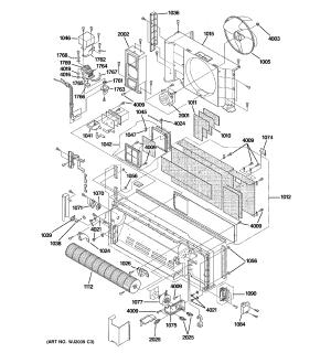 Ge model AZ61H07DADM2 air conditioner room genuine parts