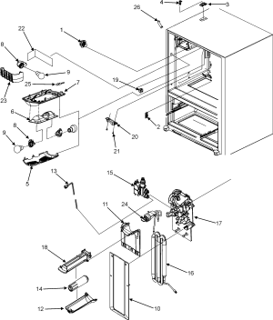 Maytag model MFI2568AEW bottommount refrigerator genuine parts