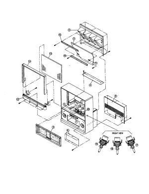 HITACHI PROJECTION COLOR TELEVISION Parts | Model 53sbx01b