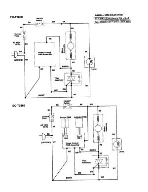 Sharp model ECT2840 vacuum, upright genuine parts
