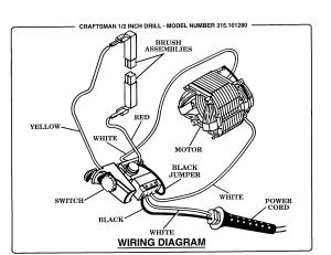 Craftsman model 315101280 drill reversing genuine parts