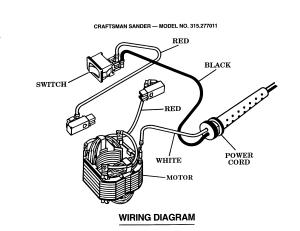 Craftsman model 315277011 sander genuine parts