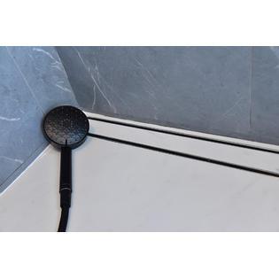 30 inch matte black tile insert linear