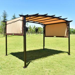 Arlington House Patio Furniture Goplus 12  x 9  Pergola Kit Metal Frame Gazebo  Canopy Cover Patio Furniture  Shelter