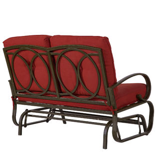 patio glider bench outdoor cushioned
