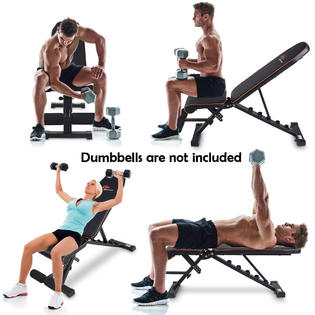 Gymax Foldable Weight Bench Adjustable Back Dumbbell Bench