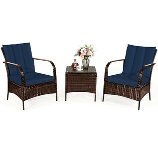 gymax casual seating sets glass sears