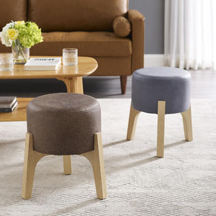 art leon small round footstool with 3