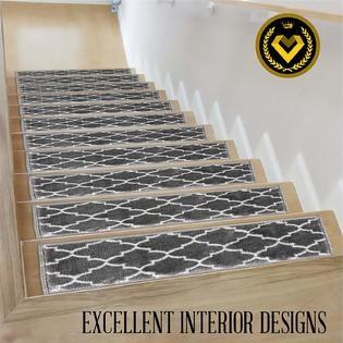 Sultansvville Sultansville Anti Slip Stairtreads Stair Carpet   Stair Treads For Carpeted Steps   Carpet Protectors   Skid Resistant   Bullnose Carpet   Anti Slip Stair   Wood