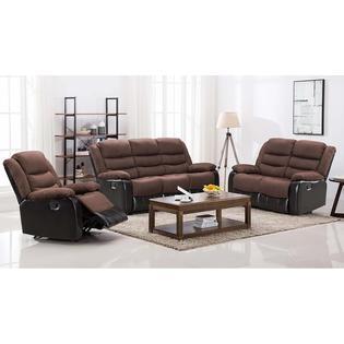 pieces reclining sofa set