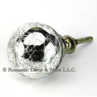 romantic decor crackled mercury glass