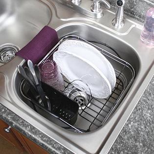 dish drying rack in kitchen sink cheftalk