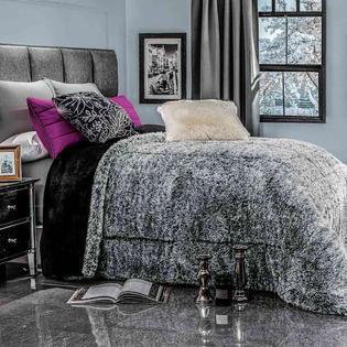 faux fur king comforter set