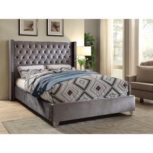 hs modern king size bed bedroom