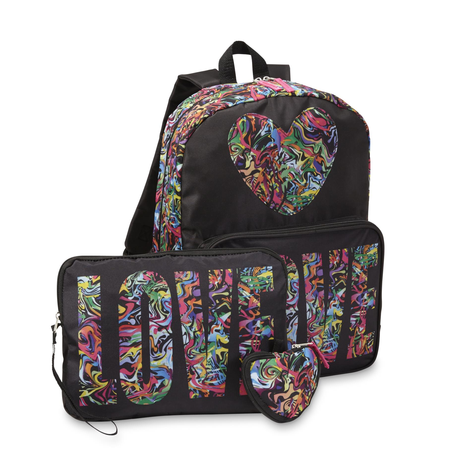 Confetti Girls Backpack Tablet Case Amp Pouch Love