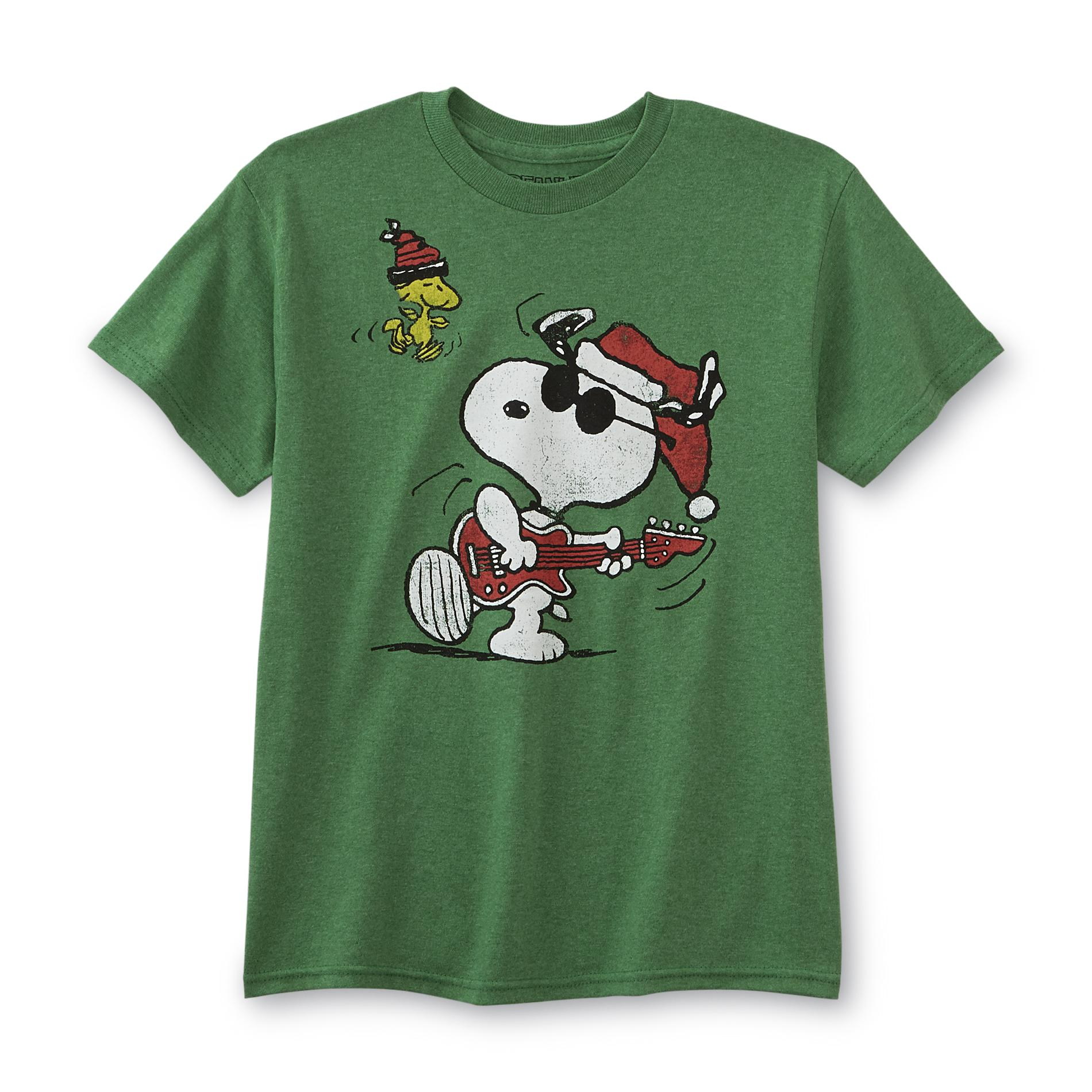 Peanuts By Schulz Snoopy Christmas Boys Graphic T Shirt