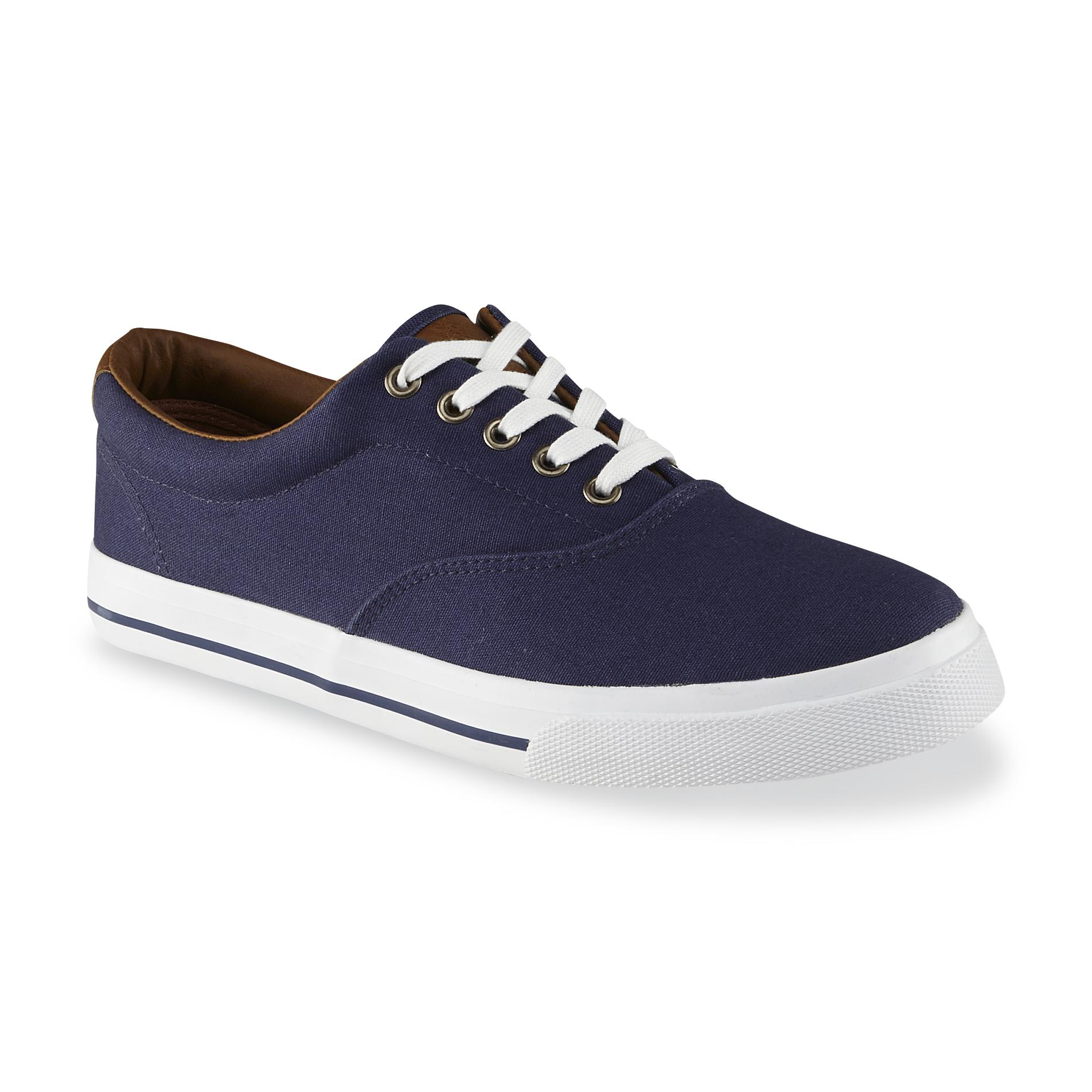 Thom McAn Mens Montrose Canvas Casual Oxford Navy