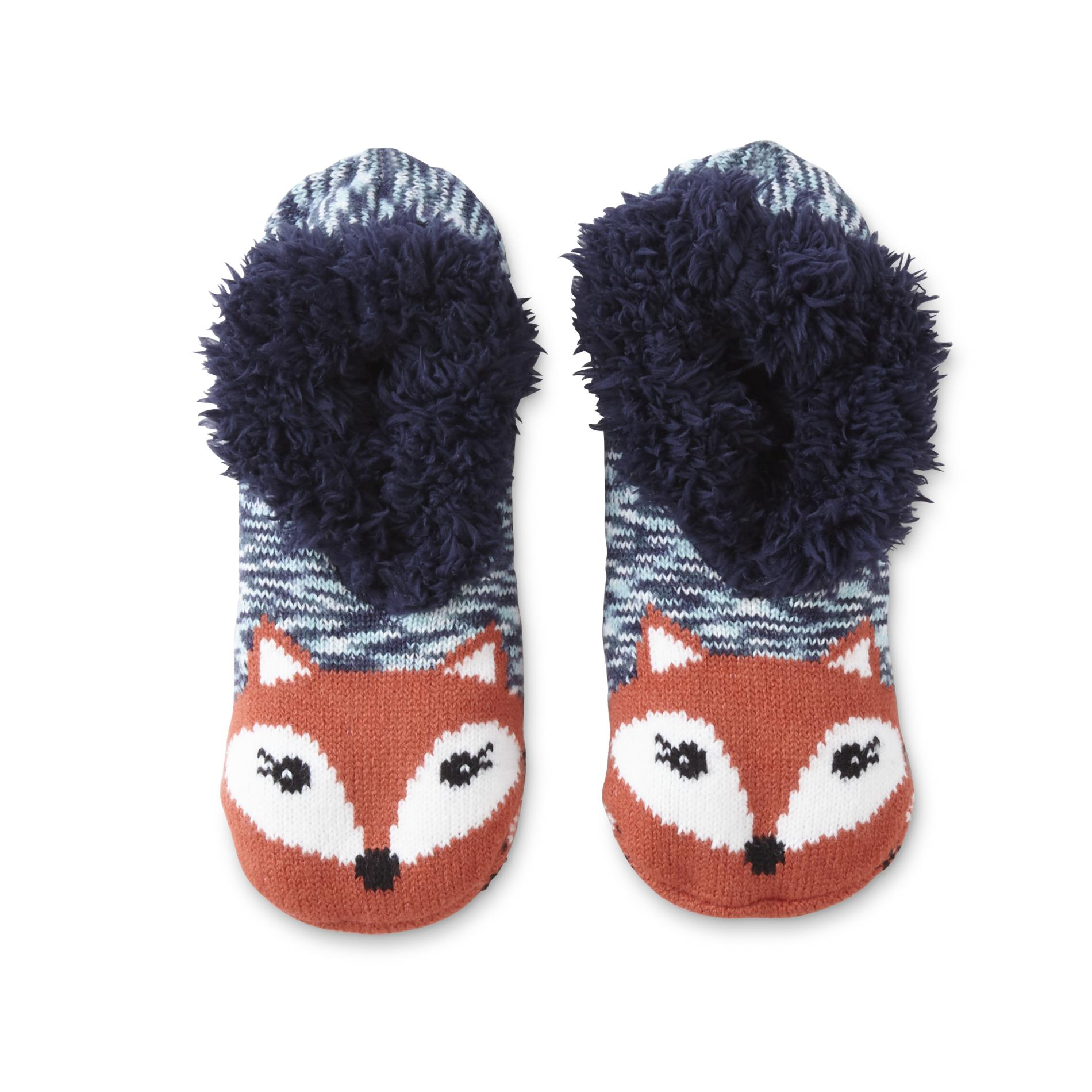 Joe Boxer Womens Slipper Socks Fox