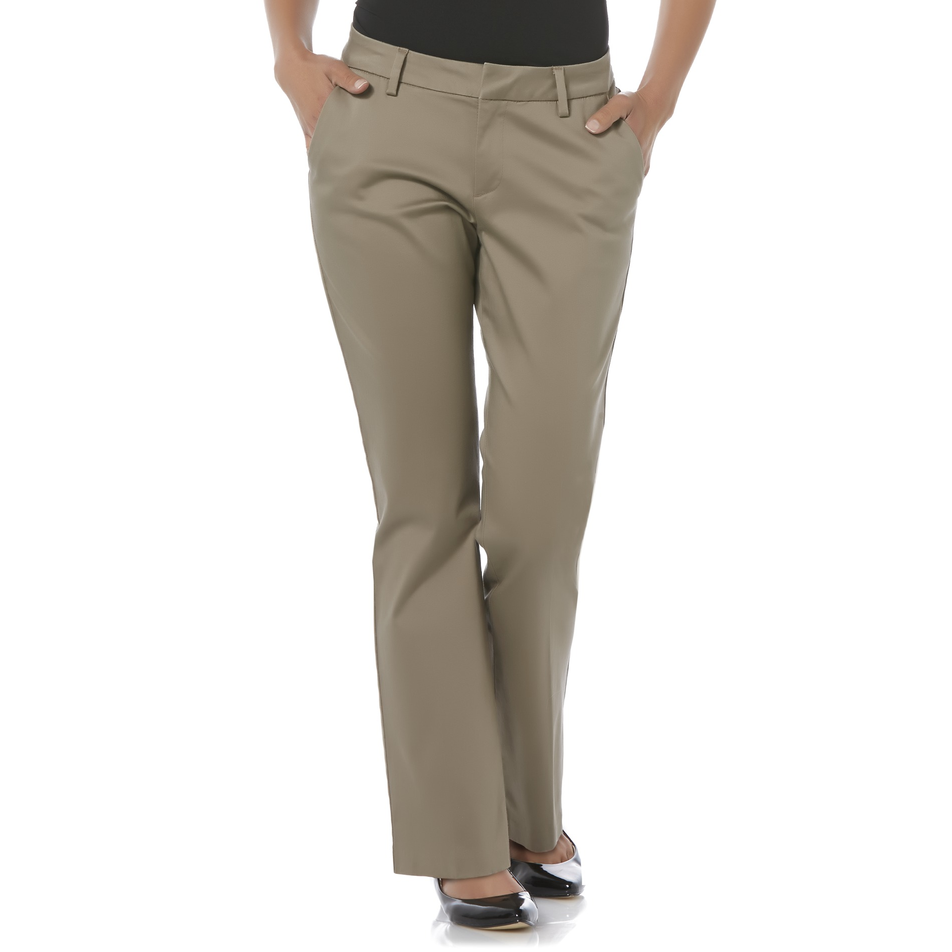 LEE Petites Curvy Fit Twill Pants Clothing Shoes Amp Jewelry Clothing Womens Clothing