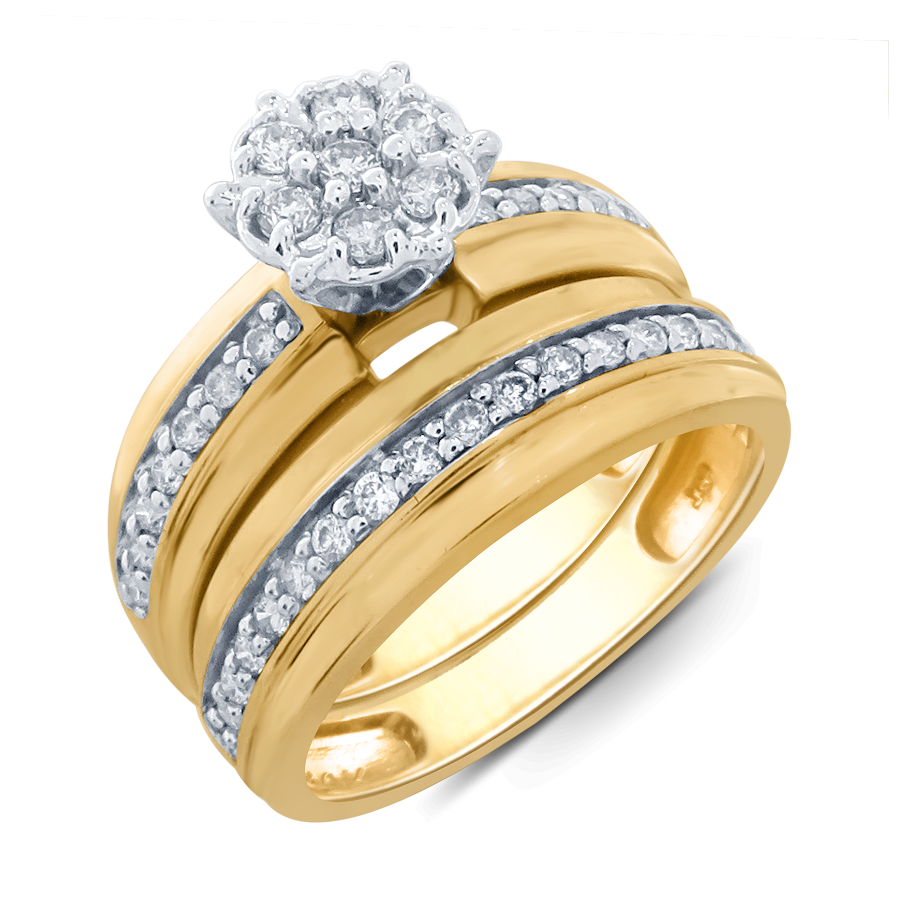 Tradition Diamond 10K Yellow Gold 12 CTTW Certified