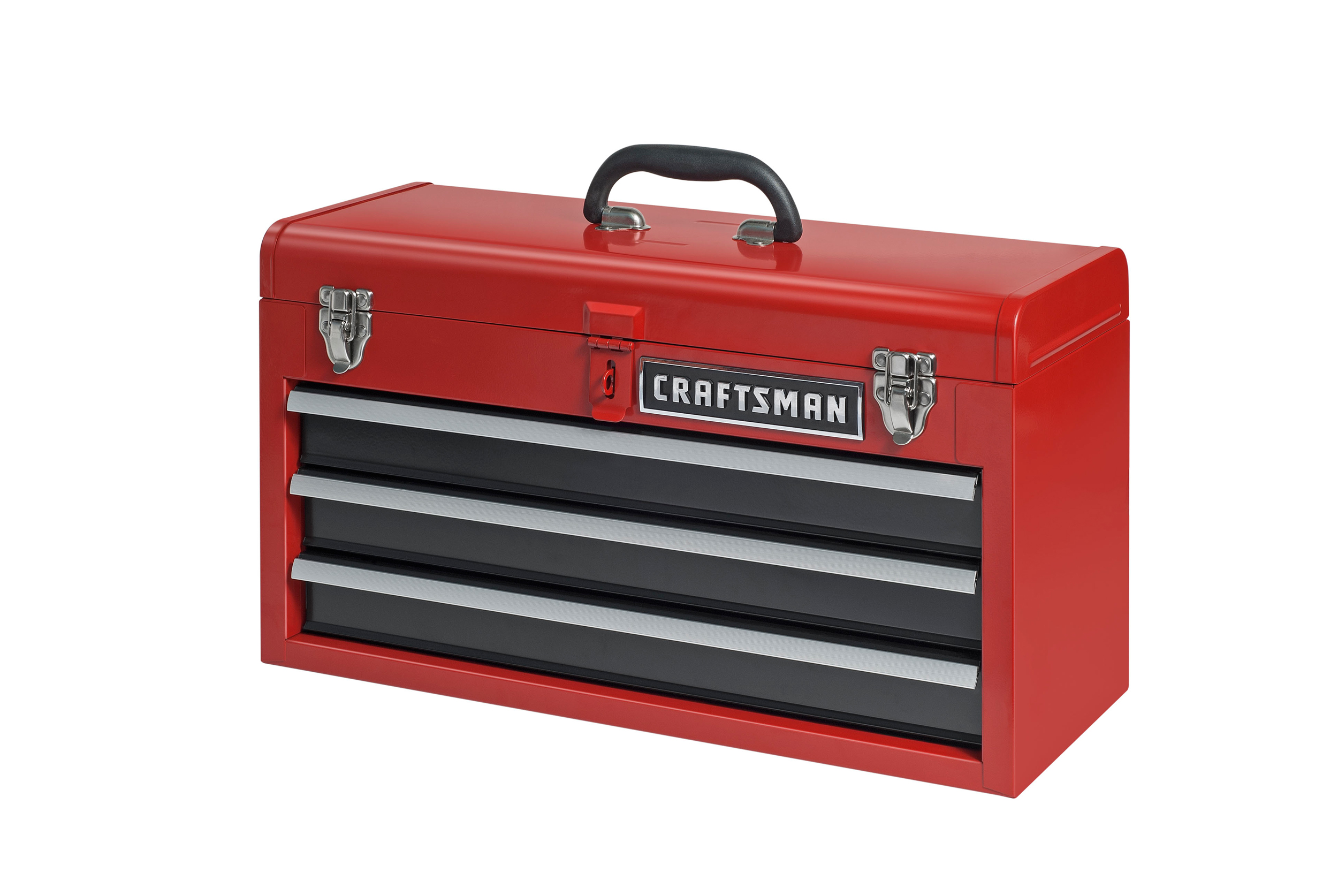 Craftsman 3 Drawer Portable Tool Chest Red