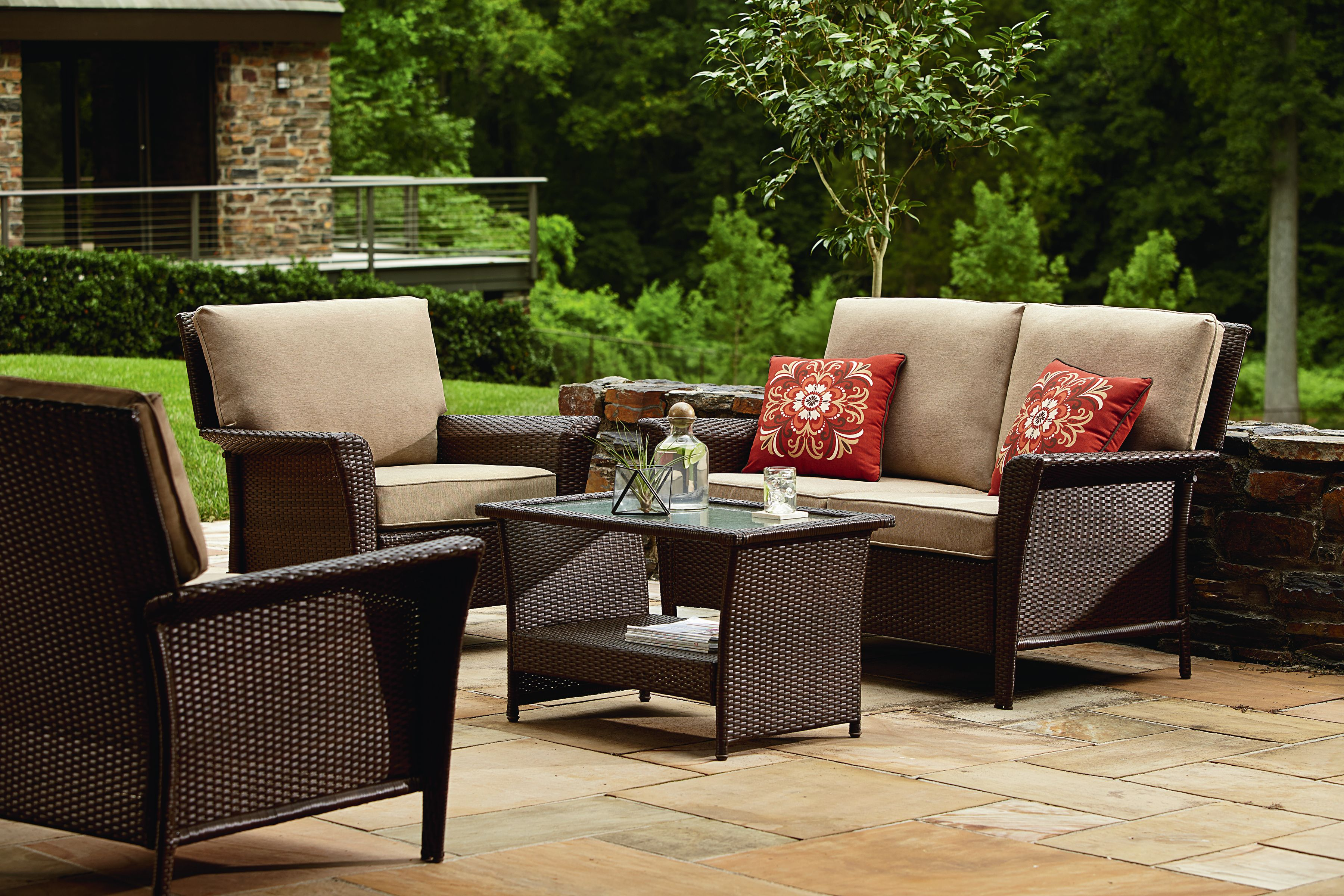 Ty Pennington Style Parkside Deep Seating Set In Brown