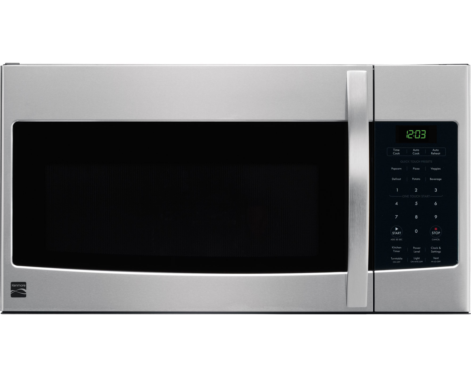 kenmore 80323 1 6 cu ft over the range microwave stainless steel