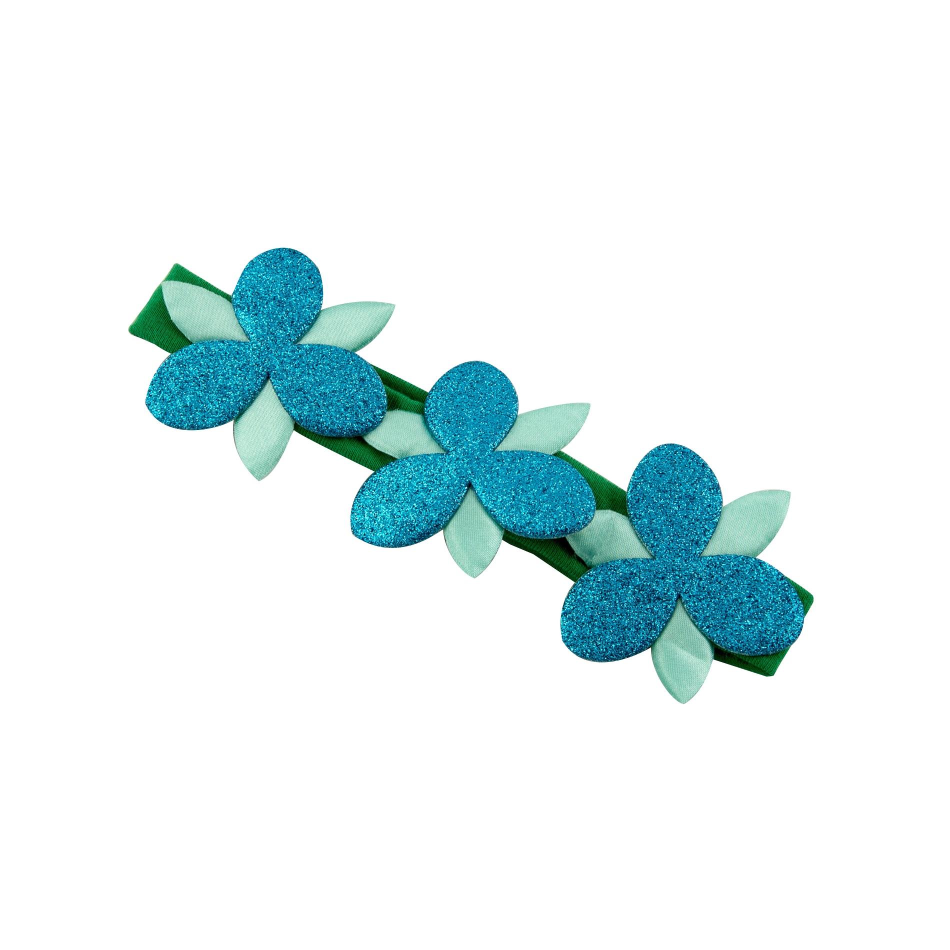 Goody Girls Trolls Poppy Flower Sparkle Headwrap Green