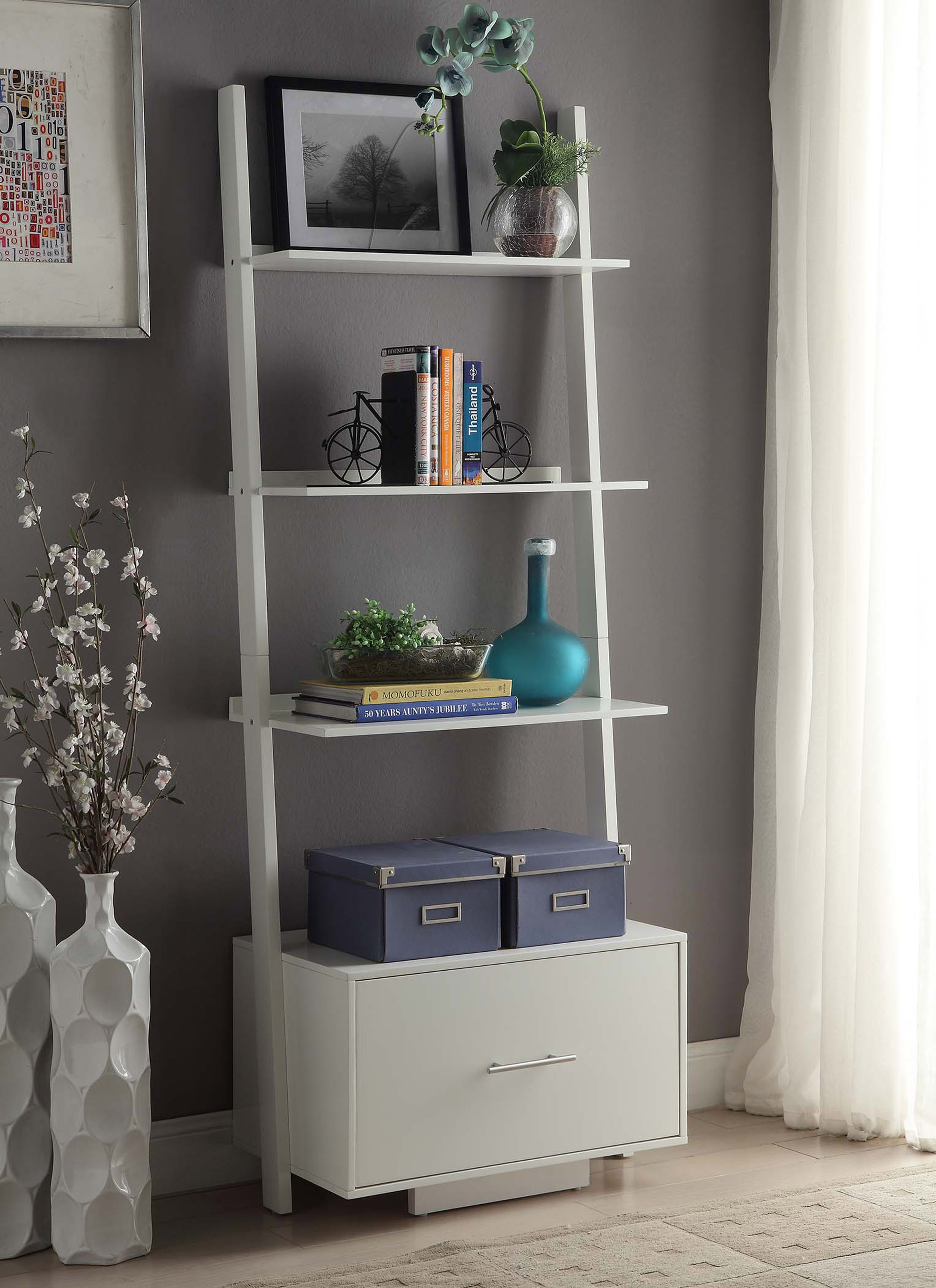 Convenience Concepts American Heritage Ladder Bookcase With
